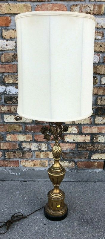 Rose - Wood and Brass Lamp with Shades LA4098$10