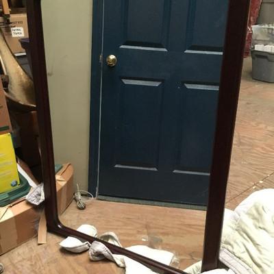 Modern Large Wood Frame Mirror CW1011 3' X 4' $20$20