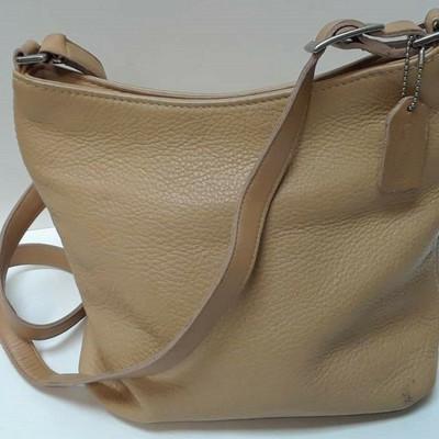 "Vintage COACH Hudson 6803 ""BROWN Tan"" Pebbled Leather Bag LA LA6070 https://www.ebay.com/itm/123791661298"