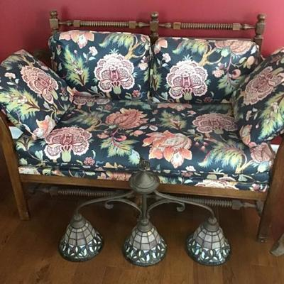 Light fixture and love seat