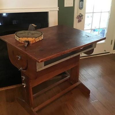 Repurposed drafting table