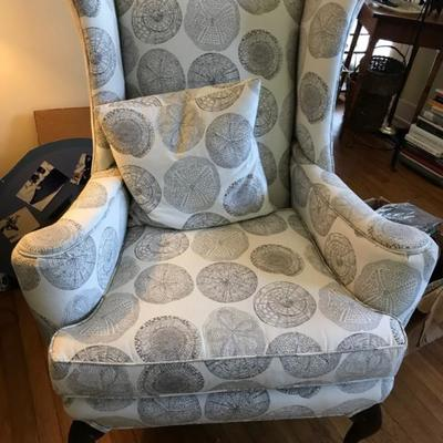 Wing back chair $95 35 X 39 X 43