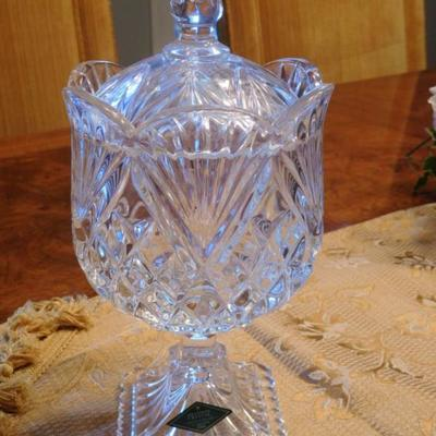 Shannon Crystal Covered Candy Dish
