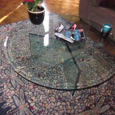 MCM Glass Cocktail Table