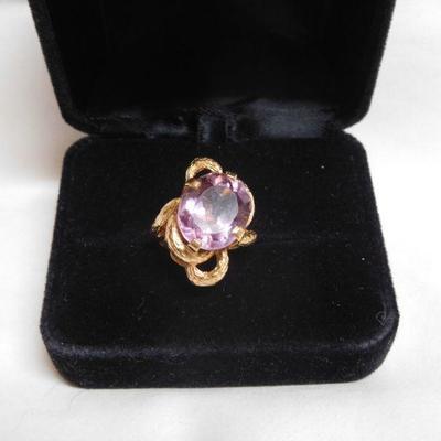 14 k Amethyst Ring