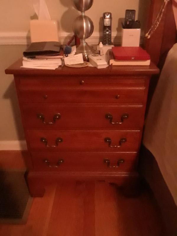 4 drawer bedside chest