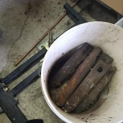 Antique window counter weights