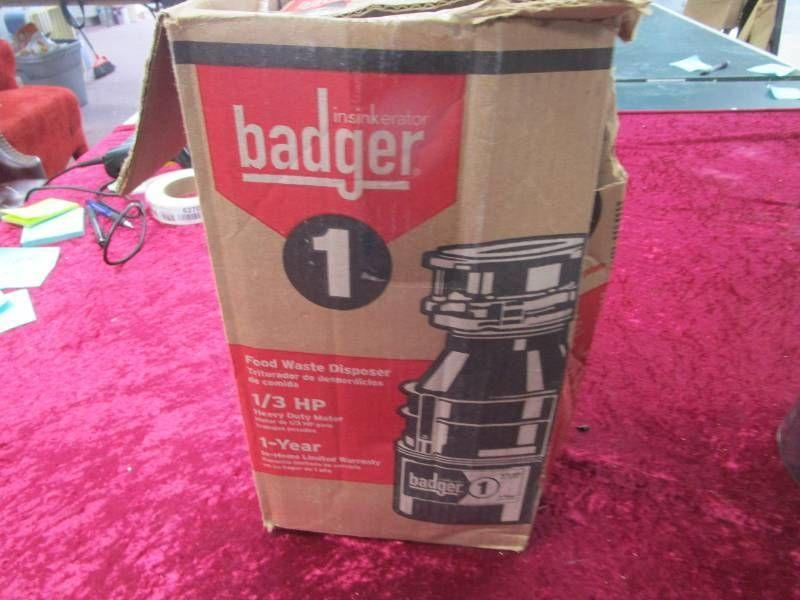 Badger Garbage Disposal..