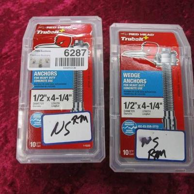 2 Boxes of Red Head 11020 Wedge Anchor 1 2X4-1 4