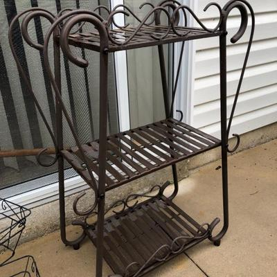 Metal Garden Shelf.