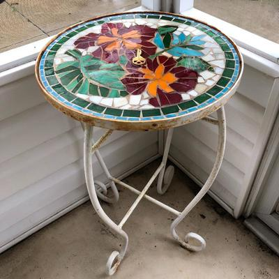 Mosaic Tile Top Table