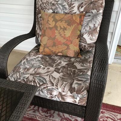 Resin Wicker Side Chair.