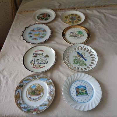 8 Glass States Plates