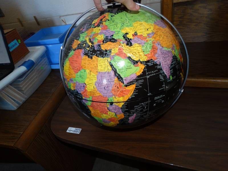 Large globe.