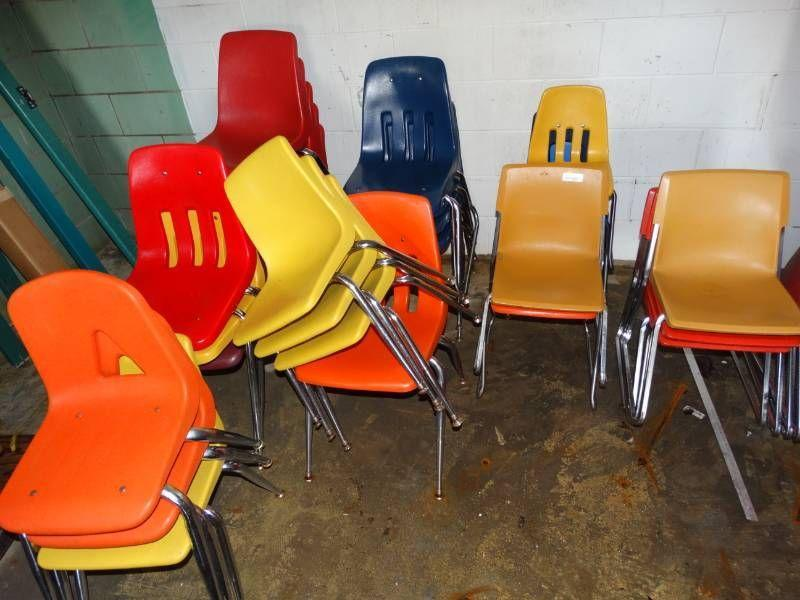 #Large lot of small chairs.