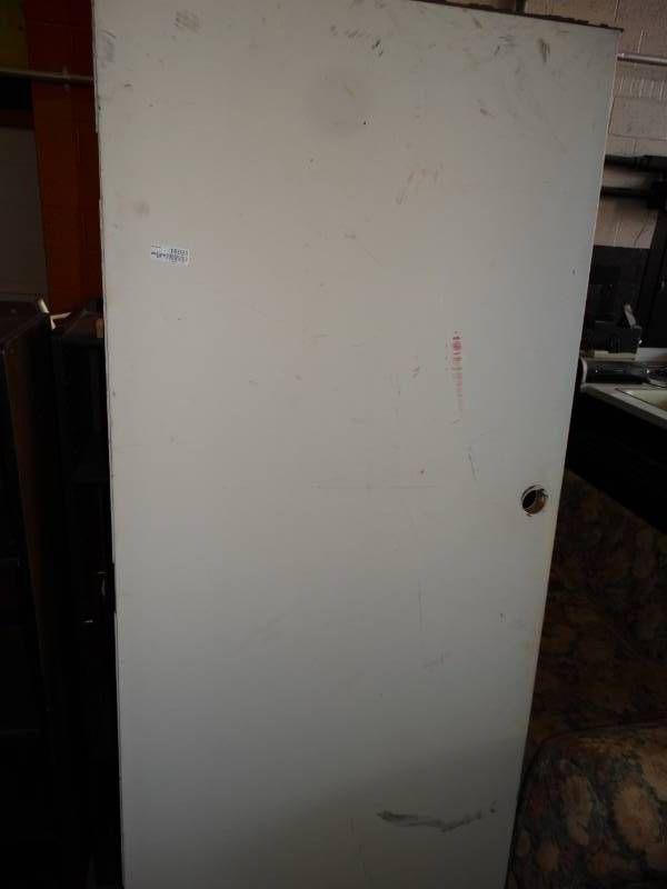 Door, missing handle.
