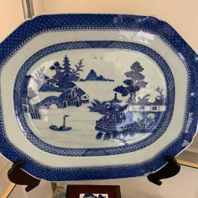 late 18th/early 19th century blue Canton porcelain, Chinese export