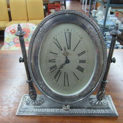 Sterling Silver Waltham Clock