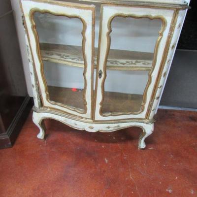 Italian Painted Curio Cabinet