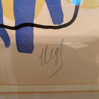 Fernand Leger, signed litho, signed and numbered in pencil, 67/75