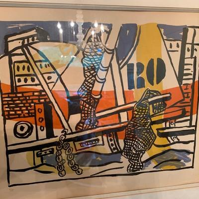 Fernand Leger, signed litho, numbered 6/75 in pencil, signed in ink (faded)