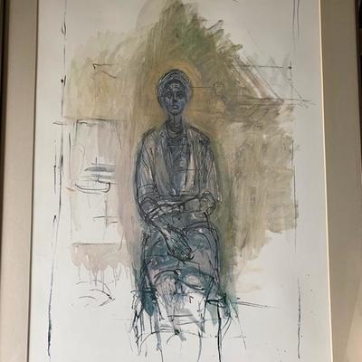 Alberto Giacometti, offset litho, 1962
