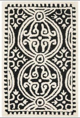 Fairburn Black Ivory Area Rug 9'x12' R1