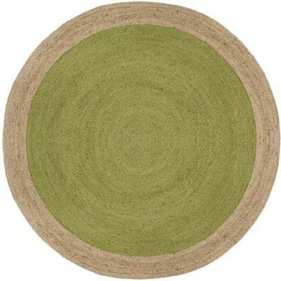 Cayla Fiber Hand-Woven Green Natural Area Rug 6' R ...
