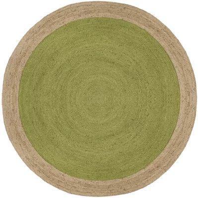 Cayla Fiber Hand-Woven Green Natural Area Rug 6' R ...