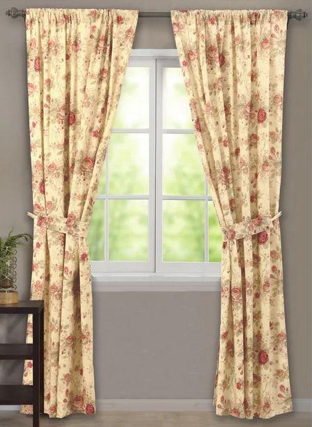 Antique Rose Curtain Panel Set 42x84