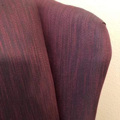 Detail of Merlot Morgan Stewart Wing Back Chair
