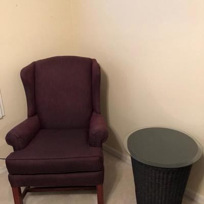 Merlot Morgan Stewart Wing Back Chair