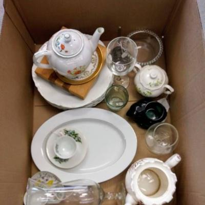 Box of China and Misc