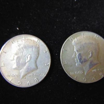 1965 and 1968 Kennedy Half Dollar