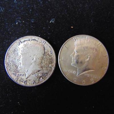 1964 and 1965 Kennedy Half Dollar