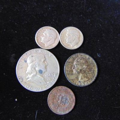 1963 Half, 1954 Quarter, 1957 and 1951 Dime - 1904 ...