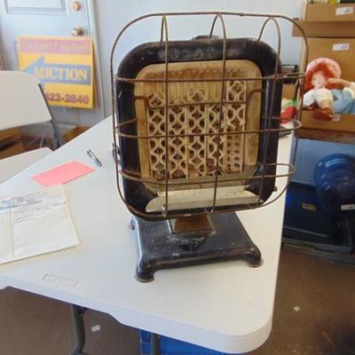 #Vintage Space Heater - Gas - 16 Tall - Blue Ename ...