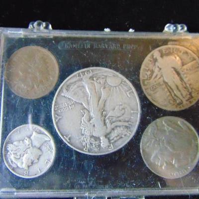 1947 Liberty Half, 1929 Quarter, 1939 Mercury Dime ...