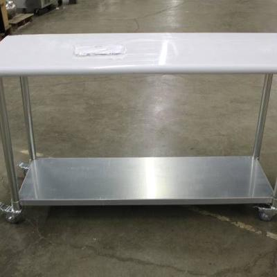 60 inch Stainless Steel Work Table with Wheels - N ...
