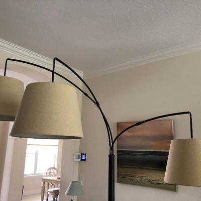 Tri-Arm Bronze Floor Lamp - $165