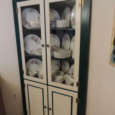 vintage corner cupboard