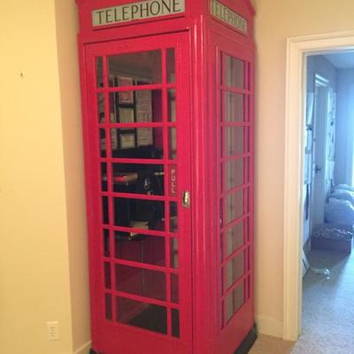 Vintage British K6 Red Phone Booth RESTORED Complete