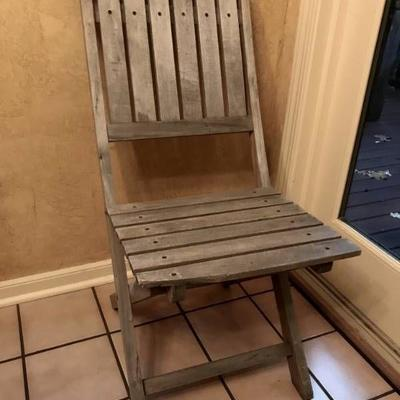 Wood Folding Chair