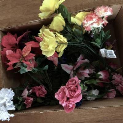 Assortment of artificial flowers