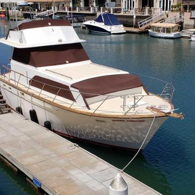#120: 40 foot 1975 Egg Harbor Yacht with twin engines, Located in Huntington Beach, Ca HIN: EGG41109M75 Sold on application for duplicate...