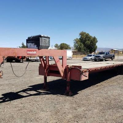 #176: 2002 40ft Overbuilt 20 Ton Hydraulic Tilt Goose Neck Trailer, Includes 3
