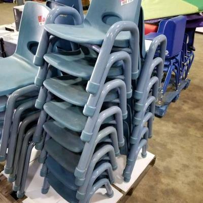 (8) Plastic Toddler Chairs