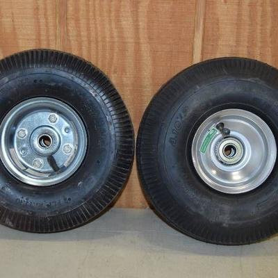 2 Hand Truck Dolly Tires and Wheels