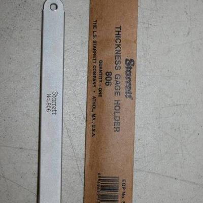 Starrett Thickness Gauge Holder No. 806
