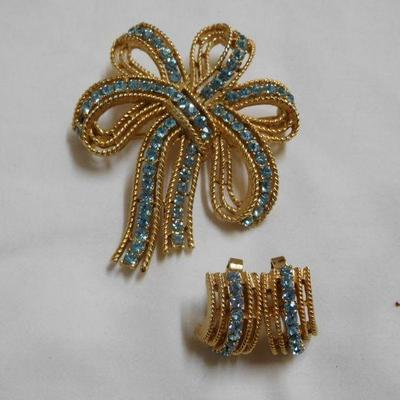 Trifari Brooch and Earrings